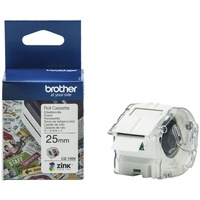 Brother CZ1004 Colour Label Roll 25mm wide 5 meter long CZ-1004