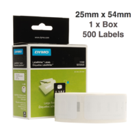 1 x Dymo Label Roll 25mm x 54mm (500 labels per roll) SD11352
