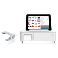 mPOP All in One Receipt Printer, Scanner, Cash Drawer and Tablet Stand (White)