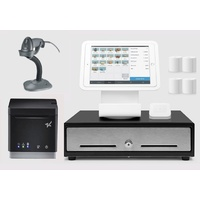 Square Stand Retail POS System for iPad with Zebra LS2208 Barcode Scanner