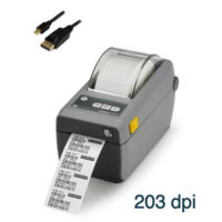 Zebra ZD410 203dpi USB 2 inch Barcode Label Printer