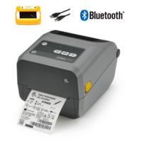 "Zebra ZD420 Thermal Transfer Yellow Ribbon Cartridge 4"" Label Printer (USB & Bluetooth)"
